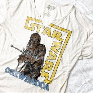 Star Wars Chewbacca Burnout V-Neck Tee Retro